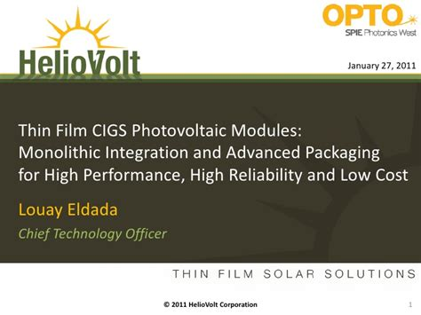 optoelectronic integrated circuits ppt spie optoelectronic integrated circuits 2011 heliovolt presentation