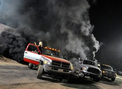 cummins truck rollin coal rolling coal drivers give the finger to president obama