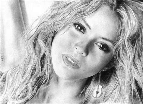 shakira drawing pencil drawing of shakira art pinterest pencil