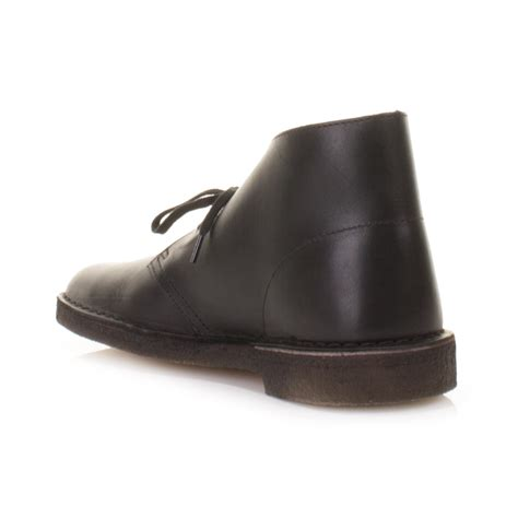 mens clarks originals black leather desert boots shoes