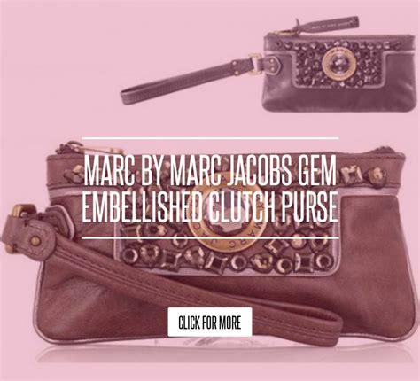 Marc By Marc Gem Embellished Clutch Purse by Marc By Marc Gem Embellished Clutch Purse Fashion