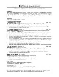 Financial Advisor Resume Template by Financial Advisor Resume Template Resume Builder
