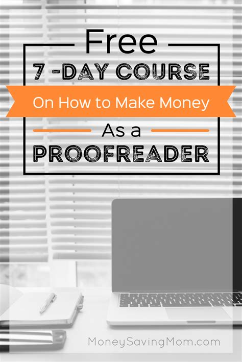 How To Make Online Money For Free - how to make money as a proofreader free 7 day course