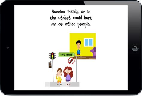 how to a to not run app with a social story about not running away from adultstouch autism