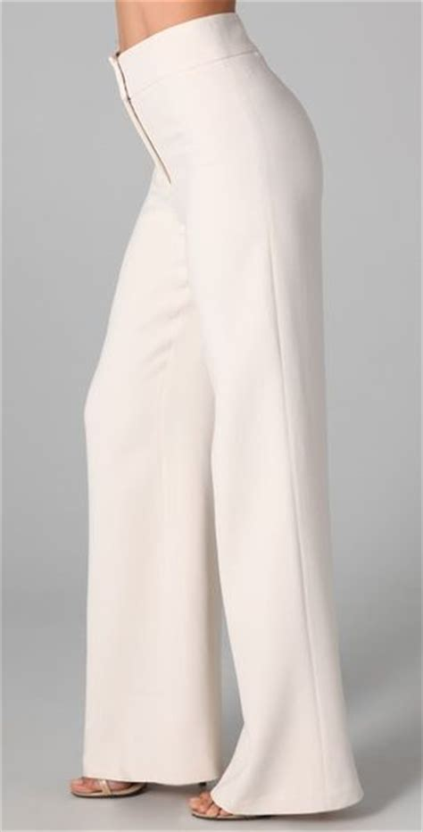 Highwaist Pant White heritage high waisted wide leg in white