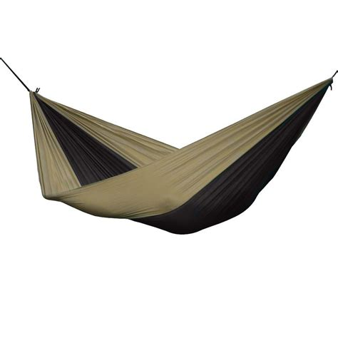 vivere 10 ft parachute hammock in black sand par22