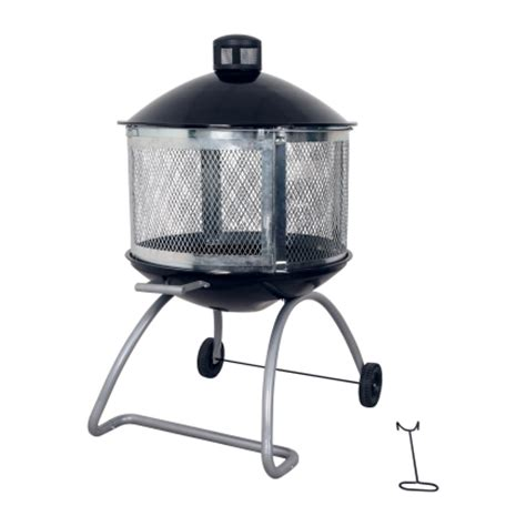 living accents 174 28in steel black firepit at ace hardware