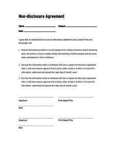 basic non disclosure agreement template sle non disclosure agreement 19 documents in pdf word
