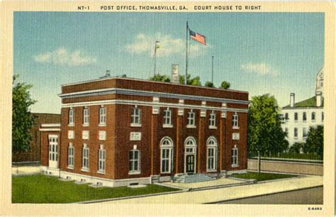 Post Office Thomasville Ga by Postcards From County
