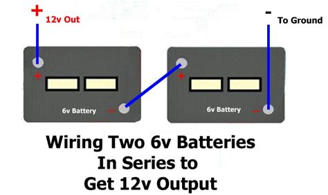 how to wire two batteries in series to output