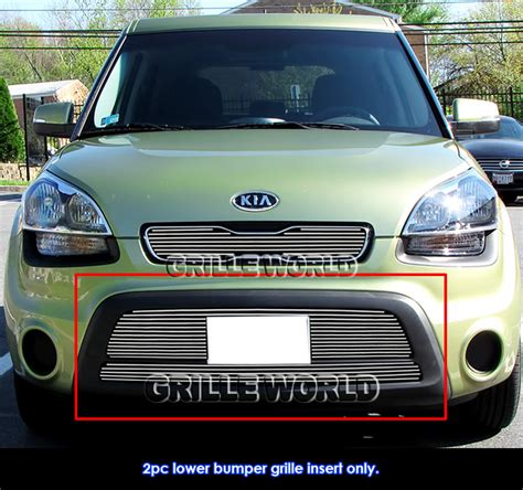 kia soul front bumper for 2012 2013 kia soul lower bumper billet grille inserts