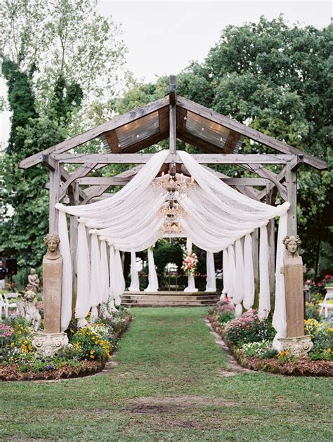 Wedding Garden by A Bright Beautiful Boho Vintage Garden Wedding Chic