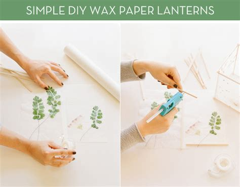 How To Make Wax Paper Lanterns - how to brilliant wax paper lantern project curbly