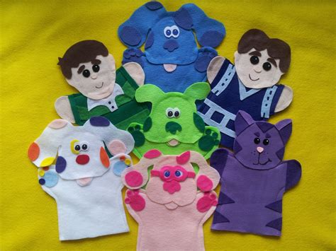 blues clues green puppy blues clues puppets blue magenta steve green puppy perwinkle magenta sprin puppets