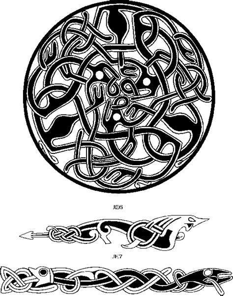 jellinge style viking art tattoo magic