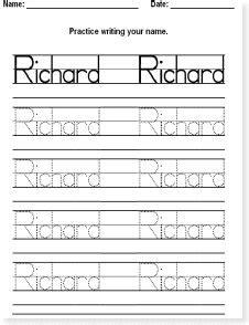 pictures tracing name worksheet dropwin