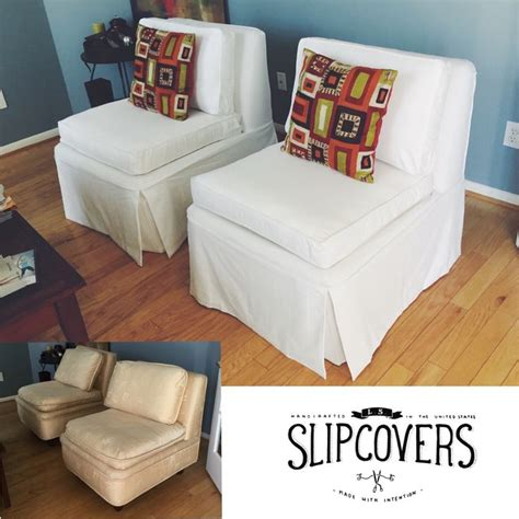 slipcovered slipper chair chair makeover slipper chairs and french vanilla on pinterest