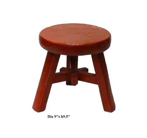 rustic color kid small wood stool vs540