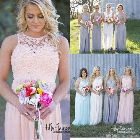 Dress Baby Pink Grey pink and grey bridesmaids dress dress images