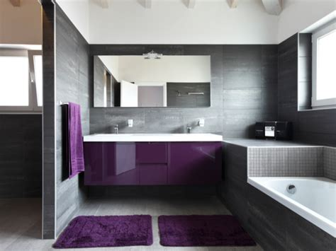 Gray And Purple Bathroom » Home Design 2017