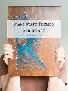 How To Make State String - pattern use the printable outline for crafts