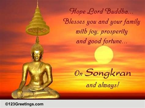 new year wishes in thai blessings of lord buddha on songkran free songkran