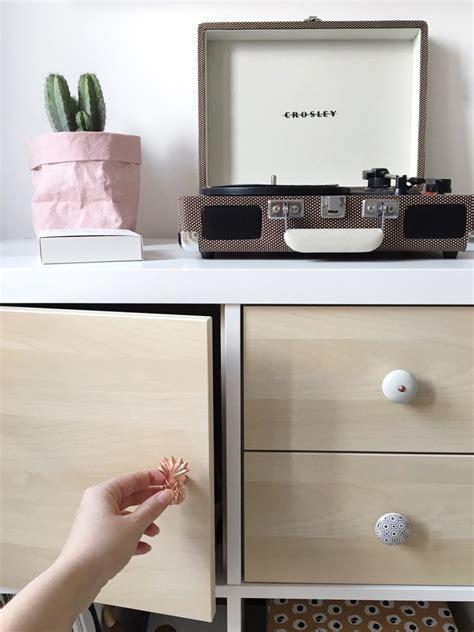 Birch Desk Diy How I Customized My Ikea Kallax Shelving Unit With