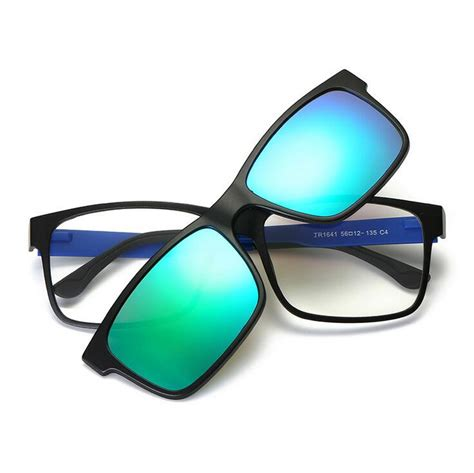 include frame polarized clip on sunglasses magnetic