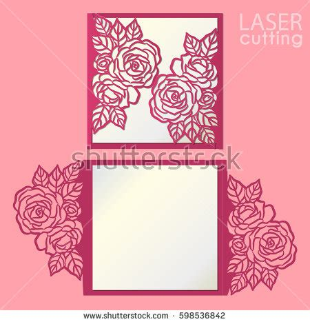 flower cutout card template cutout stock images royalty free images vectors