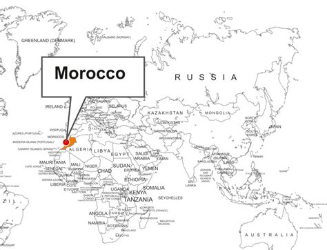 world map of morocco morocco world map