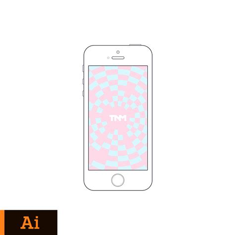 adobe illustrator iphone template vector mockup illustrator template for apple iphone 5s