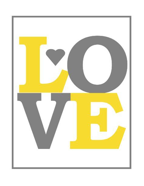 free printable wall art yellow free printable love nursery wall art regarding free