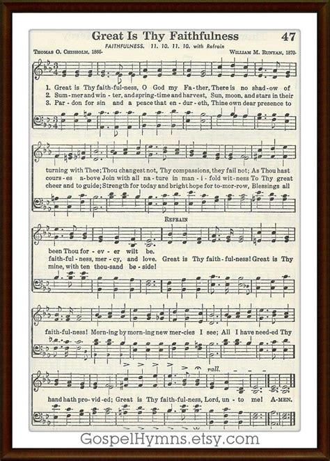 printable lyrics to great is thy faithfulness 910 best music sheet images on pinterest