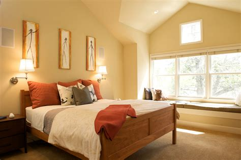 paint colors to go with wood floors bedroom contemporary with wood trim built