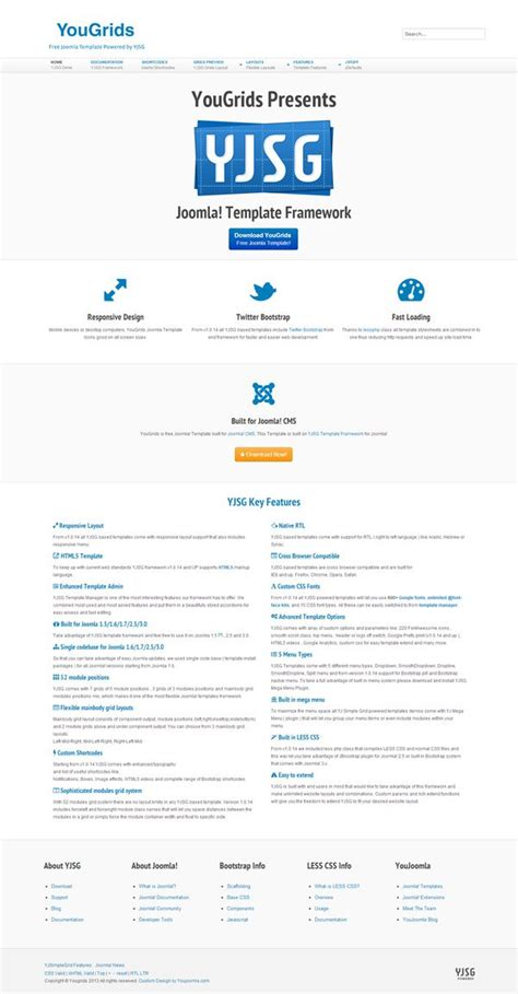 joomla template documentation yougrids free joomla template yjsg powered