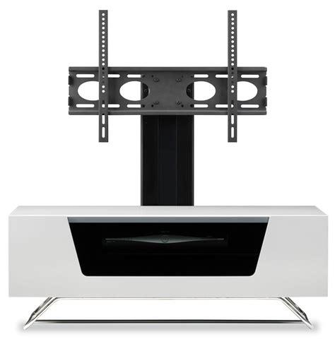alphason chromium white cantilever tv stand