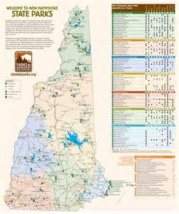 map of state parks in new hshire state parks map