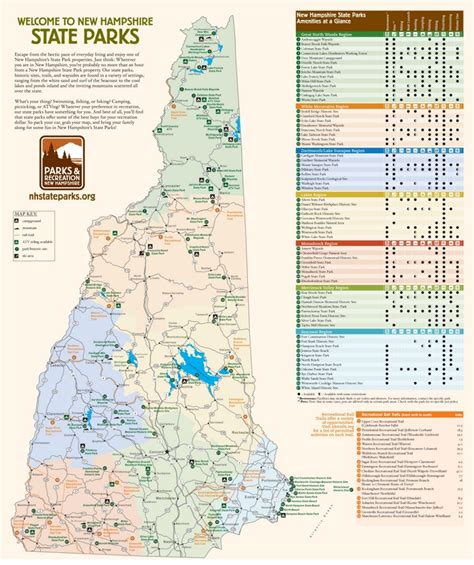 map usa new new hshire state parks map