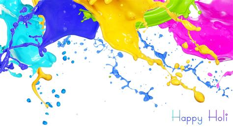 happy paint colors happy holi 3d wallpaper background hd
