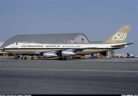 seaboard world airlines boeing 747 245f scd seattle boeing field king county international