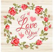 Rose Frame With Wedding Cards Vector 01  Card
