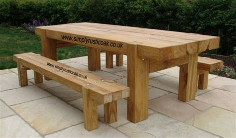 how to make a garden table and bench bespoke rustic oak garden tables custom made oak beam tables bespoke custom made
