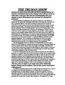 The Truman Show Essays by The Theme Of The Trueman Show Essay Websitereports243 Web Fc2