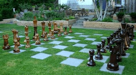 backyard chess backyard games play areas landscaping network