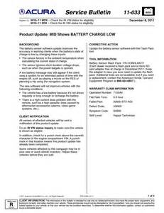 acura mdx battery warranty i a 2010 mdx in spain the car is showing a quot check