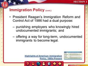 Immigration Reform And Act Of 1986 Essay by Liberty An Justice For All Unit 5 Ppt