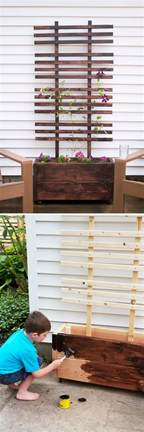 diy wood planter box 30 creative diy wood and pallet planter boxes to style up