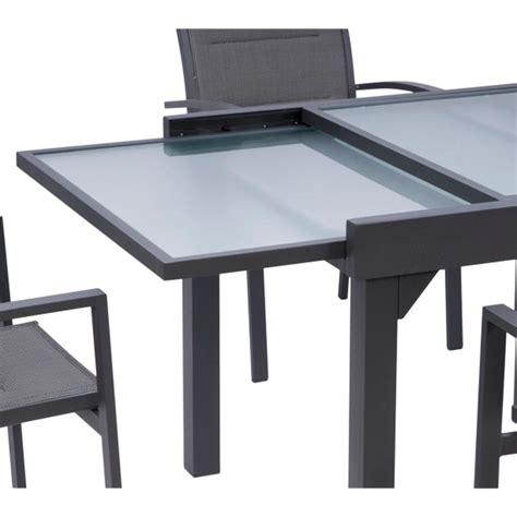 table de jardin en verre salon de jardin modulo 6 10 en aluminium et verre tremp 233 coloris gris wilsa garden