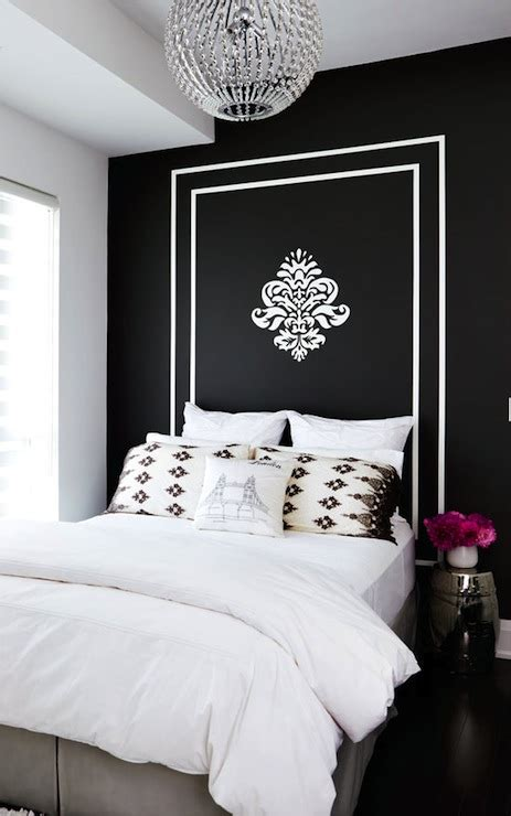 Black And White Headboard Black And White Bed Skirt Design Ideas