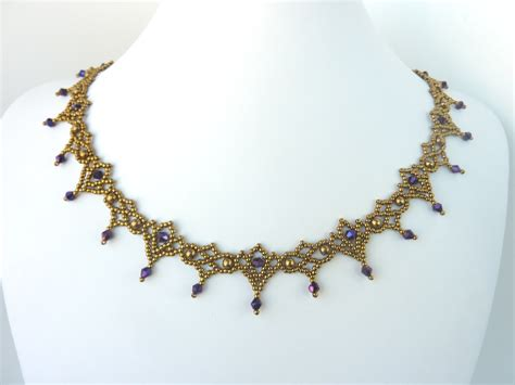 beaded necklaces for free beading pattern for necklace lace